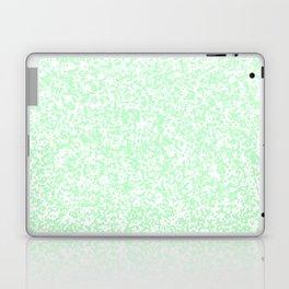 Tiny Spots - White and Mint Green Laptop & iPad Skin