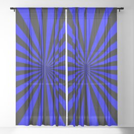 Starburst (Black & Blue Pattern) Sheer Curtain
