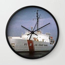 USCG Vintage Mackinaw 83 Icebreaker Wall Clock