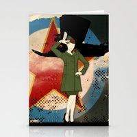 army Stationery Cards featuring Army Girl by Aleksandra Mikolajczak