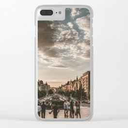 Wenceslas Square in Prague (Czech Republic) Clear iPhone Case