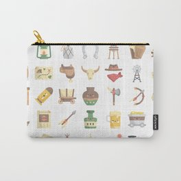 CUTE WILD WEST / COWBOY PATTERN Carry-All Pouch