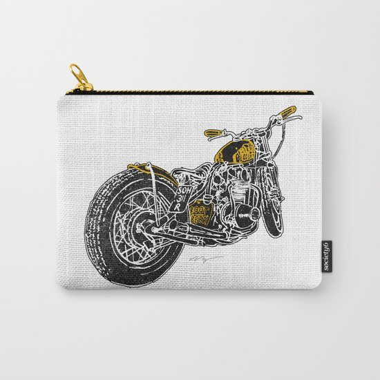 """Rootbeer Bobber"" Custom Motorcycle Carry-All Pouch"