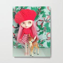 rose and the reindeer Metal Print