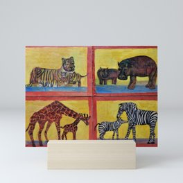 Animal Crackers Free at Last 2 Mini Art Print