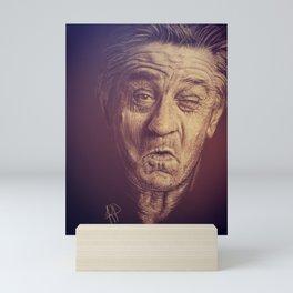 Robert De Niro Portrait Mini Art Print