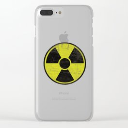 Grunge Radioactive Sign Clear iPhone Case