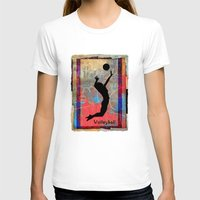 volleyball T-shirts featuring Volleyball Girl by beeczarcardsandgifts