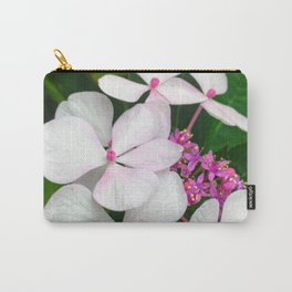White Summer Hydrangea Carry-All Pouch
