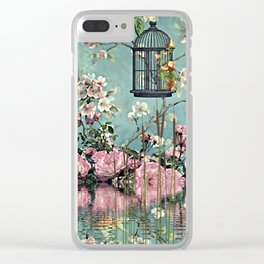 Oriental Garden Clear iPhone Case