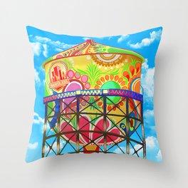 Santa Ana Water Tower Throw Pillow