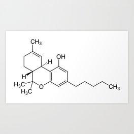 THC Molecule Art Print
