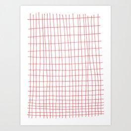 Maths Grid Art Print