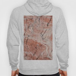 Coral Salmon Alabaster Marble Hoody
