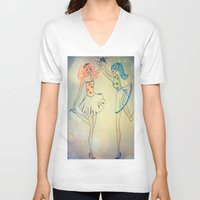 witch V-neck T-shirts featuring witch by Elide G