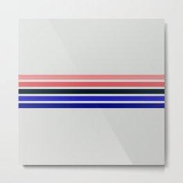 Muted Retro Stripes Metal Print