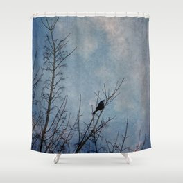 the grackle Shower Curtain