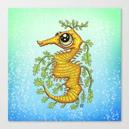 Happy Leafy Sea Dragon Canvas Print
