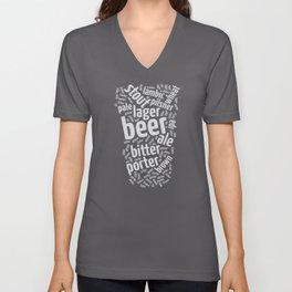 Beer Glass Word Unisex V-Neck