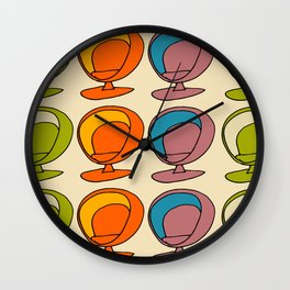 Retro Chair Pearl #atomicage Wall Clock