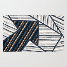 Abstract striped geometric pattern. 2 Rug