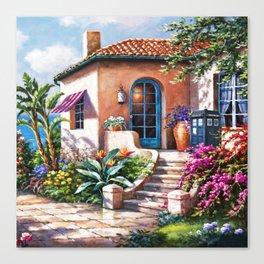 Tradis Art At The Beach House Canvas Print