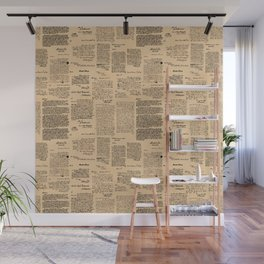 George Washington's Letters // Dark Paper Wall Mural