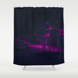Cyberpunk Street Car Shower Curtain