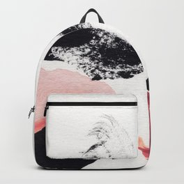 Blush Abstract Art Backpack