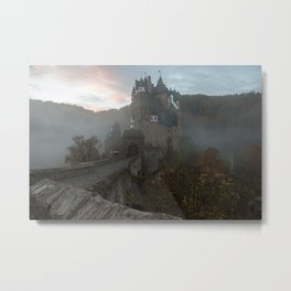 Morning light at Castle Eltz Germany Metal Print