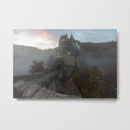 Morning light at Castle Eltz Germany Metal Print