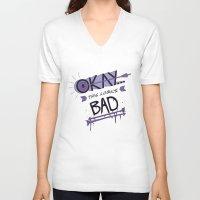 hawk V-neck T-shirts featuring Hawk by emptystarships