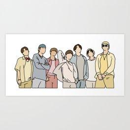 BTS Dynamite Art Print