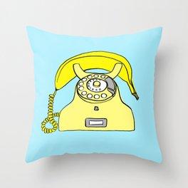 Banana Phone Throw Pillow