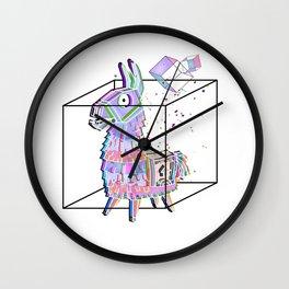 Minimal fortnitellama Wall Clock