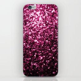 Beautiful Dark Pink glitter sparkles iPhone Skin