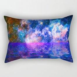 NEBULA COSMIC HORIZON OCEAN BLUE Rectangular Pillow