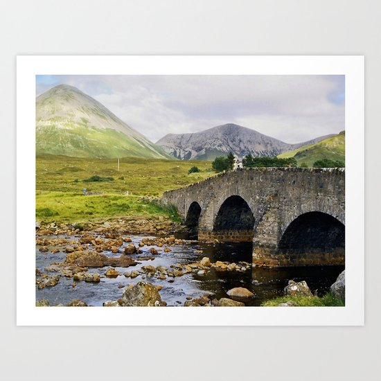Glamaig and Sligachan Bridge Art Print
