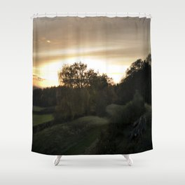 End of a lovely day Shower Curtain