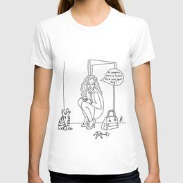 Mom and cat T-shirt