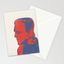 Frankenstein's Monster Blue and Red Stationery Cards