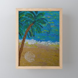Tropical Beach Framed Mini Art Print
