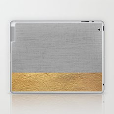 Color Blocked Gold & Grey Laptop & iPad Skin