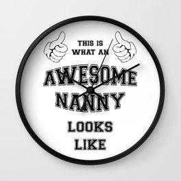 AWESOME NANNY Wall Clock