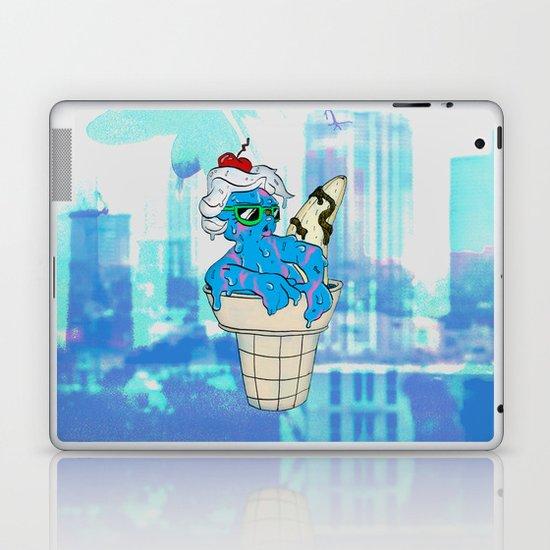 """Sassy Summer Ice Cream Lady"" by Virginia McCarthy & Cap Blackard Laptop & iPad Skin"
