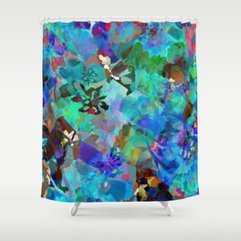 Hawaiian Jungle Batik Shower Curtain