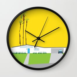 Palm Springs CA Mid Century Modern Sunrise Sky Wall Clock