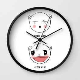 Me After Coffee & Wine Wall Clock