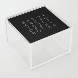 Sator Square Modern Witch Typorgraphy - on black Acrylic Box