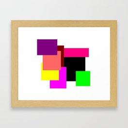 Colour Squares Framed Art Print